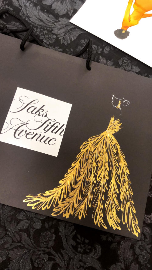 Live event drawing of saks fifth avenue