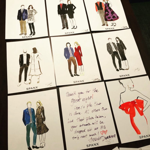 Live event drawing of multiple arts of couple