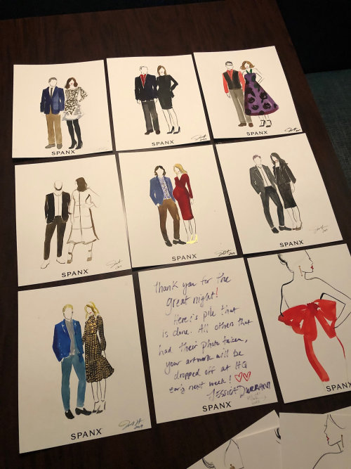 Live event drawing of couples art