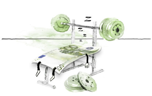 Gym equipment watercolor painting