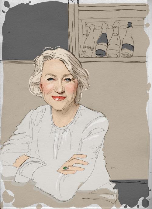 Digital portrait of old women