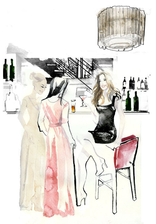 Ladies out watercolor painting