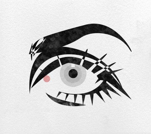 Sketch art of eye