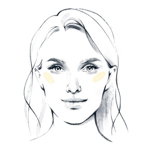 Line portrait of beautiful girl