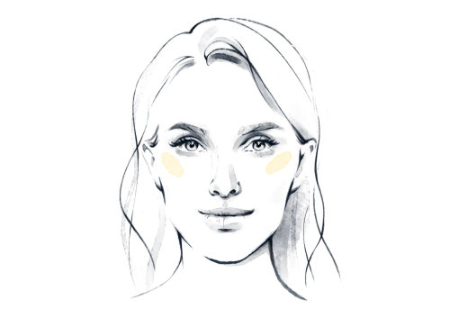 Line portrait of beautiful girl