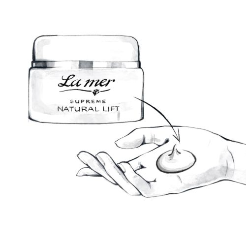 La Mer face cream fashion illustration