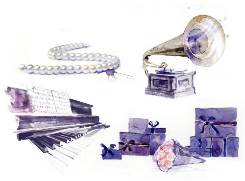 Musical instruments graphic design