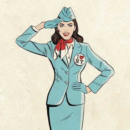 Flight attendant graphic design