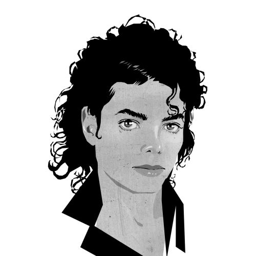 Portrait illustration of Michael Jackson
