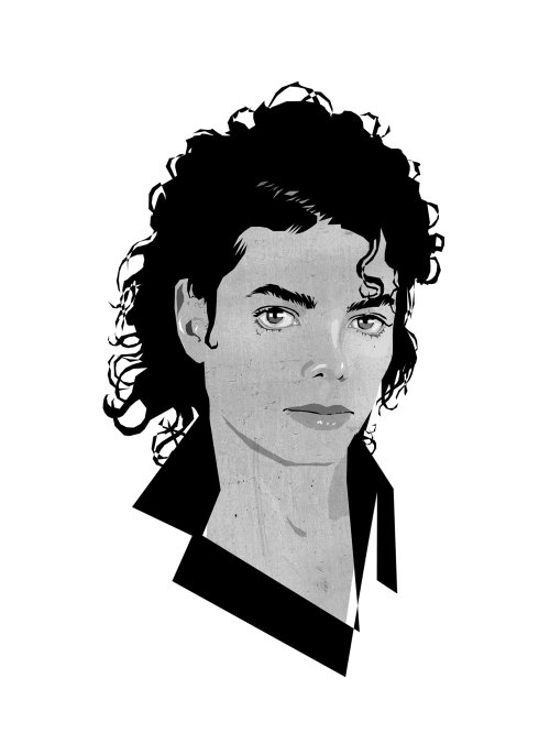 Portrait illustration of Michael Jackson