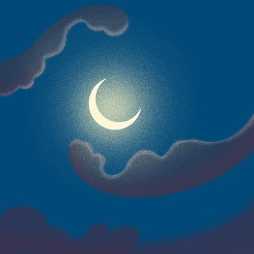 Graphic design of moon light