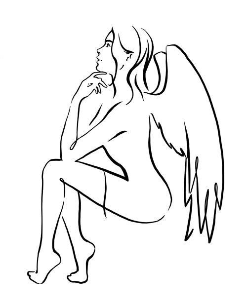 Fairy tail girl line art