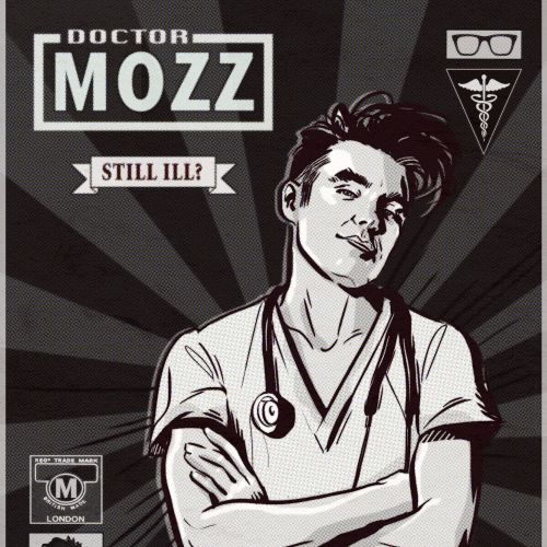 Black and white cover design of doctor mozz