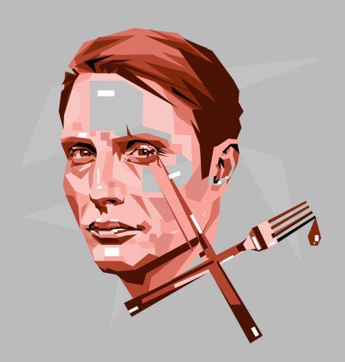 Vector portrait illustration of man