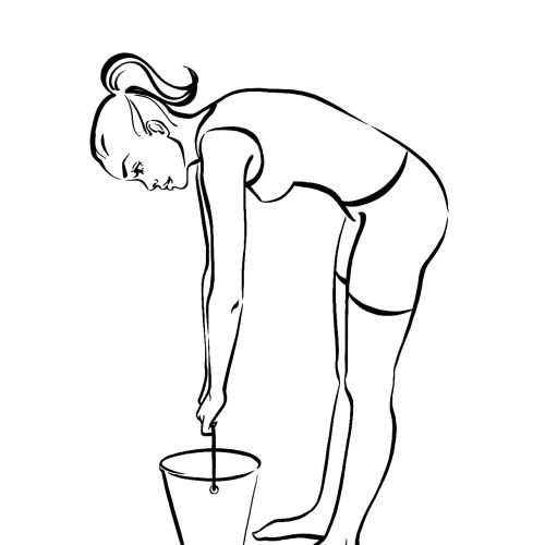 An illustration of one bucket straight legged dead Lift
