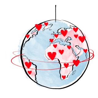 watercolor world globe of earth