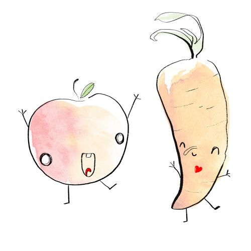 Cartoon illustration of vegetables