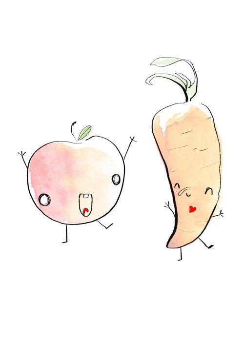 Cartoon illustration of vegetables