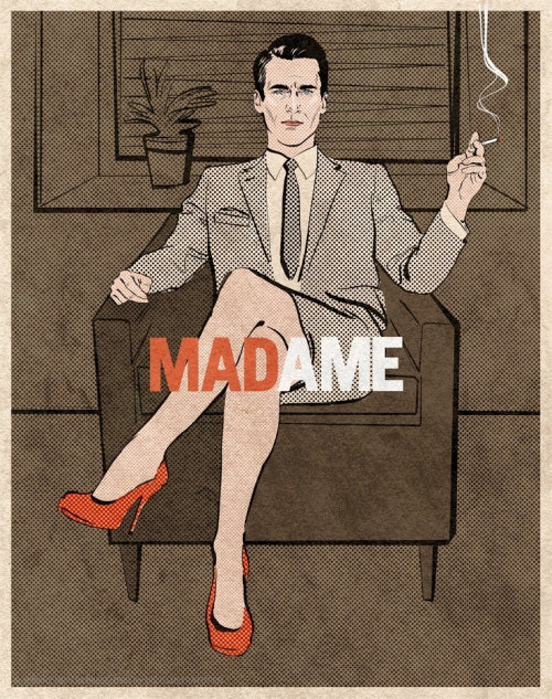 Pop art of a woman on suit holding cigarette