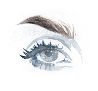 water color painting of an eye