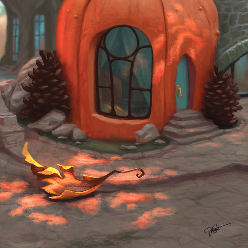 Pumpkin villa graphic illustration