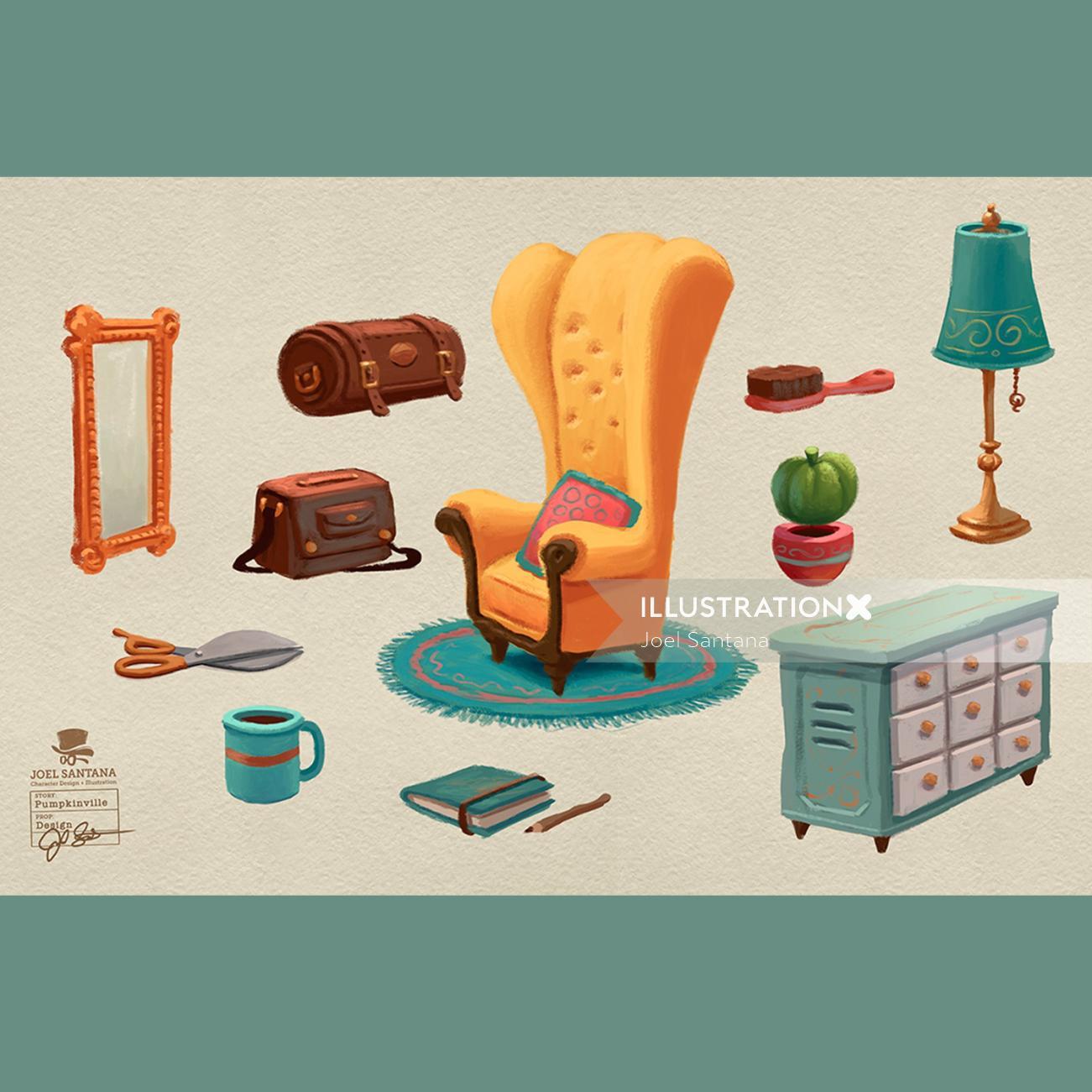 Home needs icons design by Joel Santana