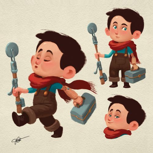 Boy character design for children book
