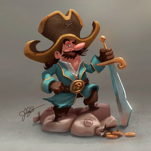 Pirate character design by Joel Santana