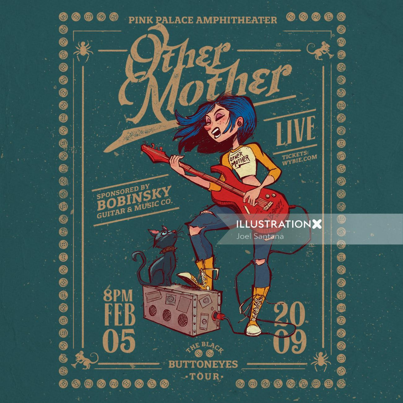Cover poster design for Other Mother music