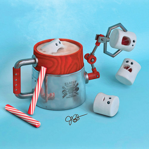 Graphic design of Hot coco machine