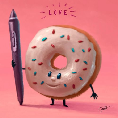 Cartoon illustration of donuts
