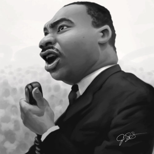 Digital portrait of Martin Luther King Jr