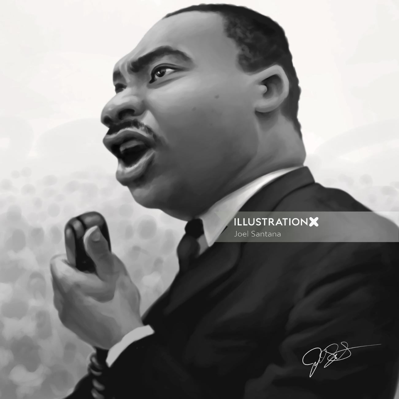 Digital portrait of Martin Luther King Jr