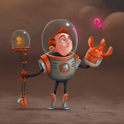 Character design of astronaut