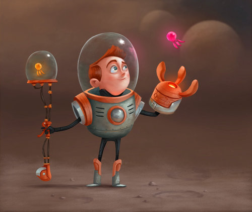 Character design of astronaut