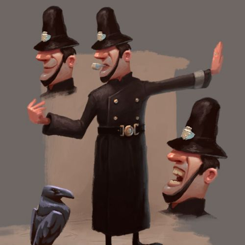 Character design of The Policeman