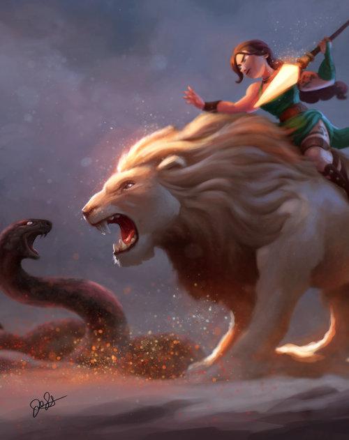 Animal Lion fantasy art