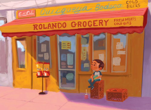 Rolando grocery graphic design