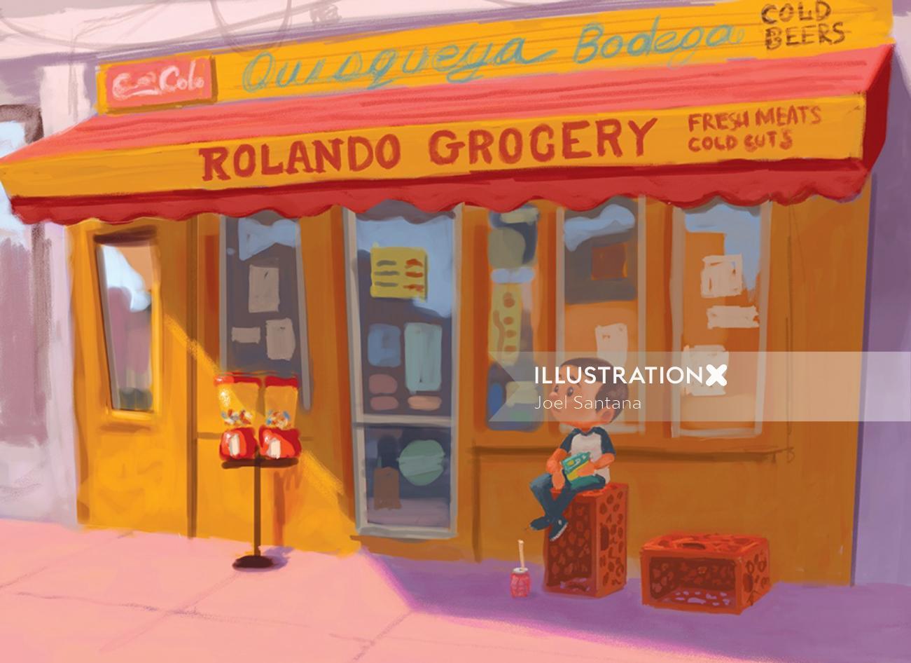Rolando grocery graphic design