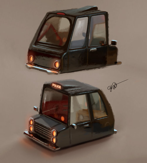 Cop car design by Joel Santana