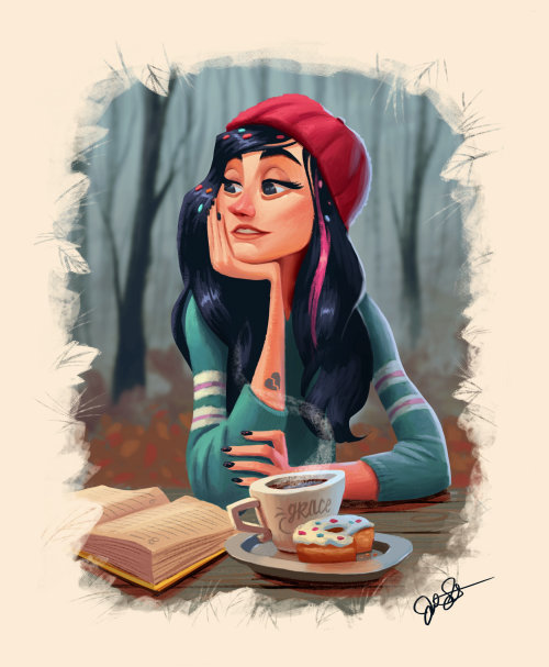 Disney character illustration by Joel Santana