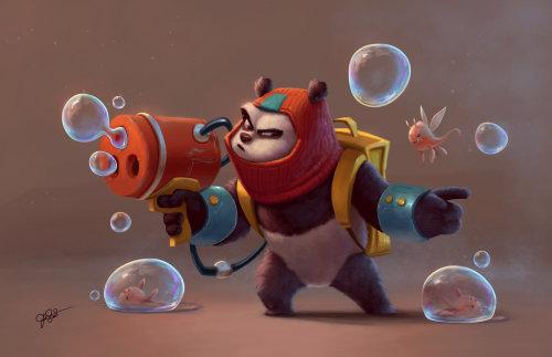 Animal cartoon character illustration by Joel Santana