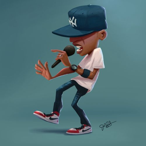 Character design of rapper