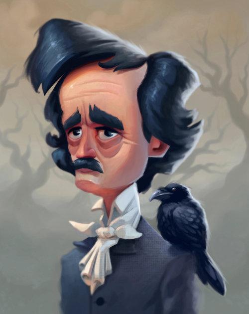 Portrait of a caricature man