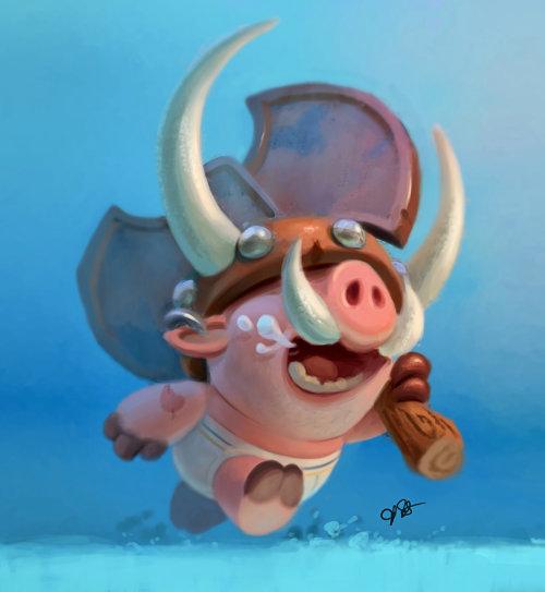 Fantasy Pig character design