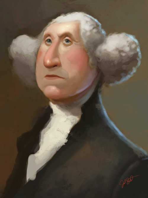 Portrait painting of George Washington, 1st US President