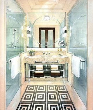 Modern interior designer sketch