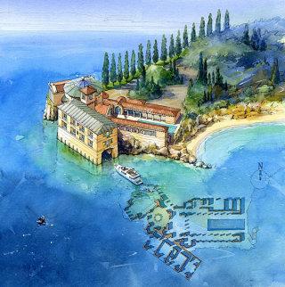 Island painting by Johan Walsom