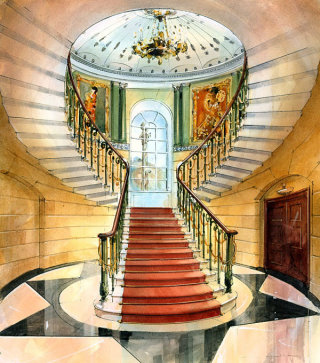 Historical Interiors painting by John Walsom