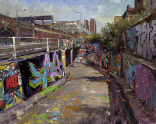 Painting of street road graffiti